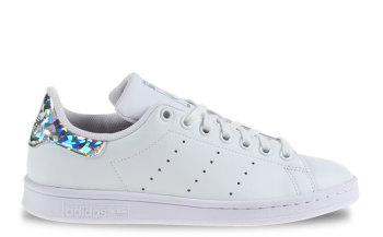 adidas Stan Smith J Wit/Holographic Dames