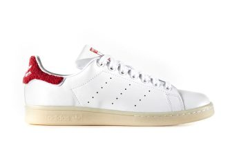 adidas Stan Smith Wit/Rood Dames