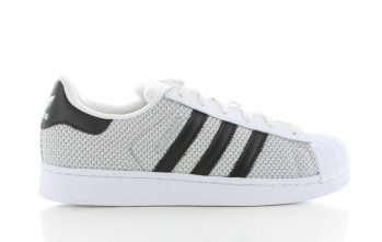 Adidas Superstar Black White Woven