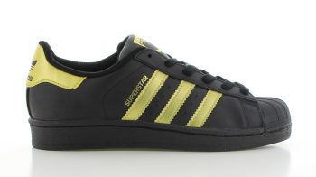 adidas Superstar Core Black Gold GS