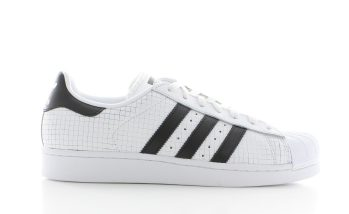 adidas Superstar White Core Black Gridded Dames