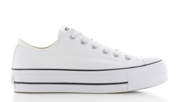 Converse Chuck Taylor All Star Platform Ox Wit Dames