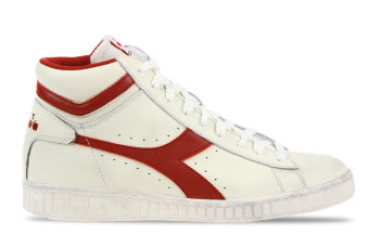 Diadora Game L High Waxed Wit/Rood Heren