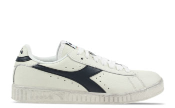 Diadora Game L Low Waxed Wit/Donkerblauw Dames