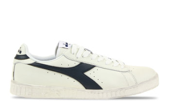 Diadora Game L Low Waxed Wit/Donkerblauw Heren