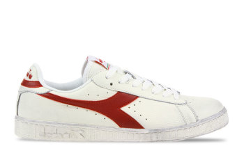 Diadora Game L Low Waxed Wit/Rood Heren