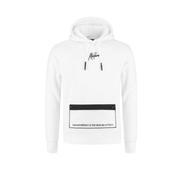 Malelions Hoodie Transparant Wit Heren