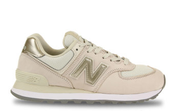 New Balance 574 Wit/Goud Dames