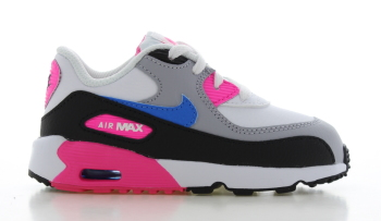 Nike Air Max 90 Leather Wit/Zwart/Roze Peuters