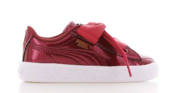 Puma Basket Heart Glam Red Baby