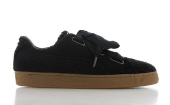Puma Basket Heart Teddy Zwart Dames