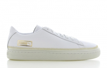 Puma Basket Trim Metallic Wit Dames