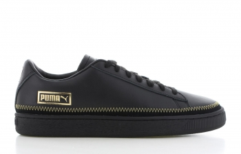 Puma Basket Trim Metallic Zwart Dames