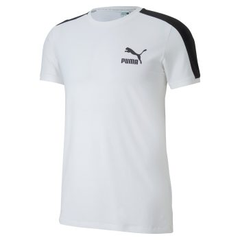 Puma Iconic T7 SLim T-shirt Wit Heren