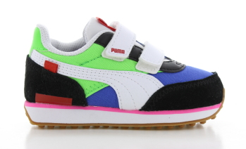 Puma Rider Game On Groen/Blauw Peuters