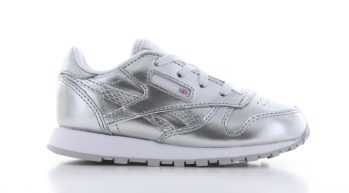 Reebok Classic Leather Metallic Silver Baby