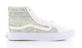 Vans Sk8 Hi Slim Frayed Native True White