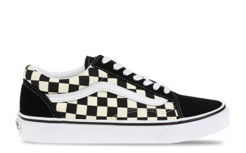 Vans UA Old Skool Checkerboard Zwart/Wit Dames