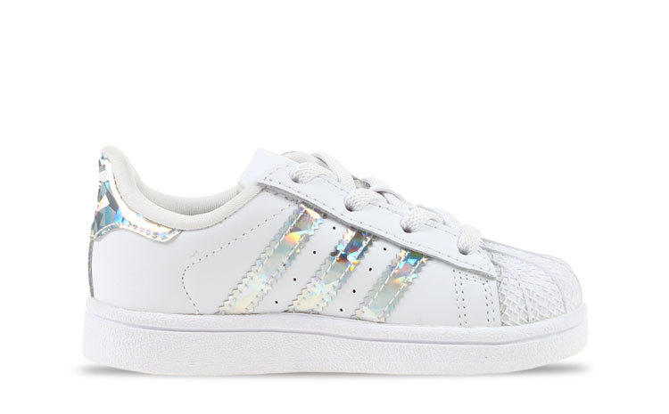adidas Superstar Wit/Holographic Peuters maat 21