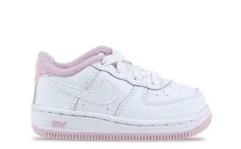 Nike Air Force 1 Wit/Rosé Baby