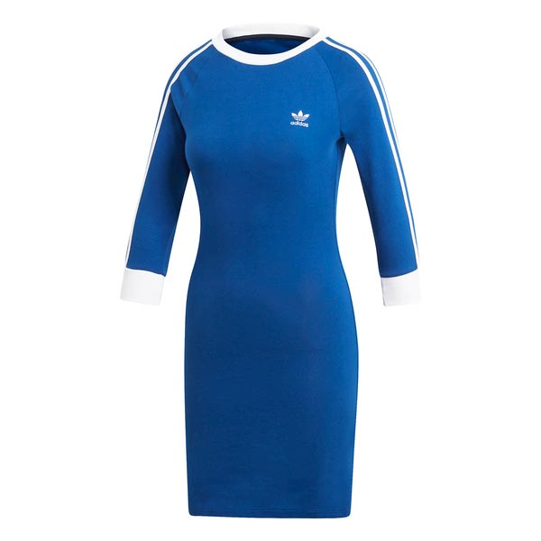 Image of Adidas 3 Stripes Dress Blauw Dames