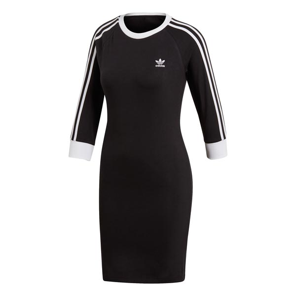 Image of Adidas 3 Stripes Dress Zwart Dames