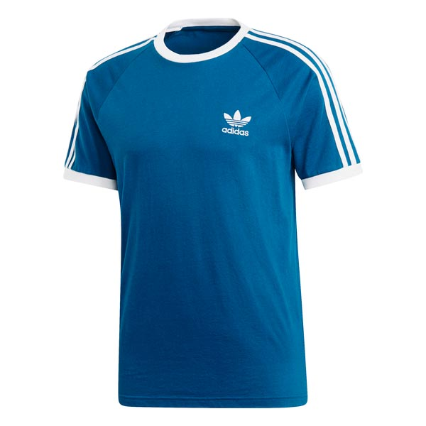 Image of Adidas 3 Stripes Tee Blauw Heren