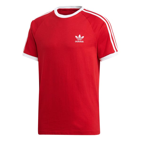 Image of Adidas 3-stripes Tee Rood Heren