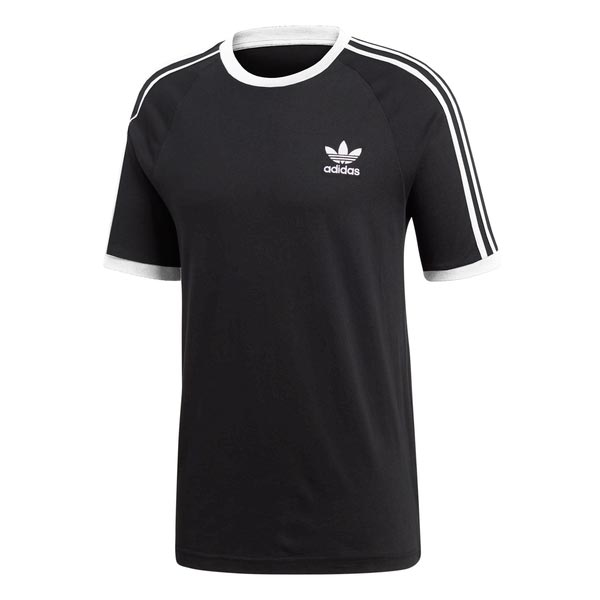 Image of Adidas 3-stripes Tee Zwart Heren