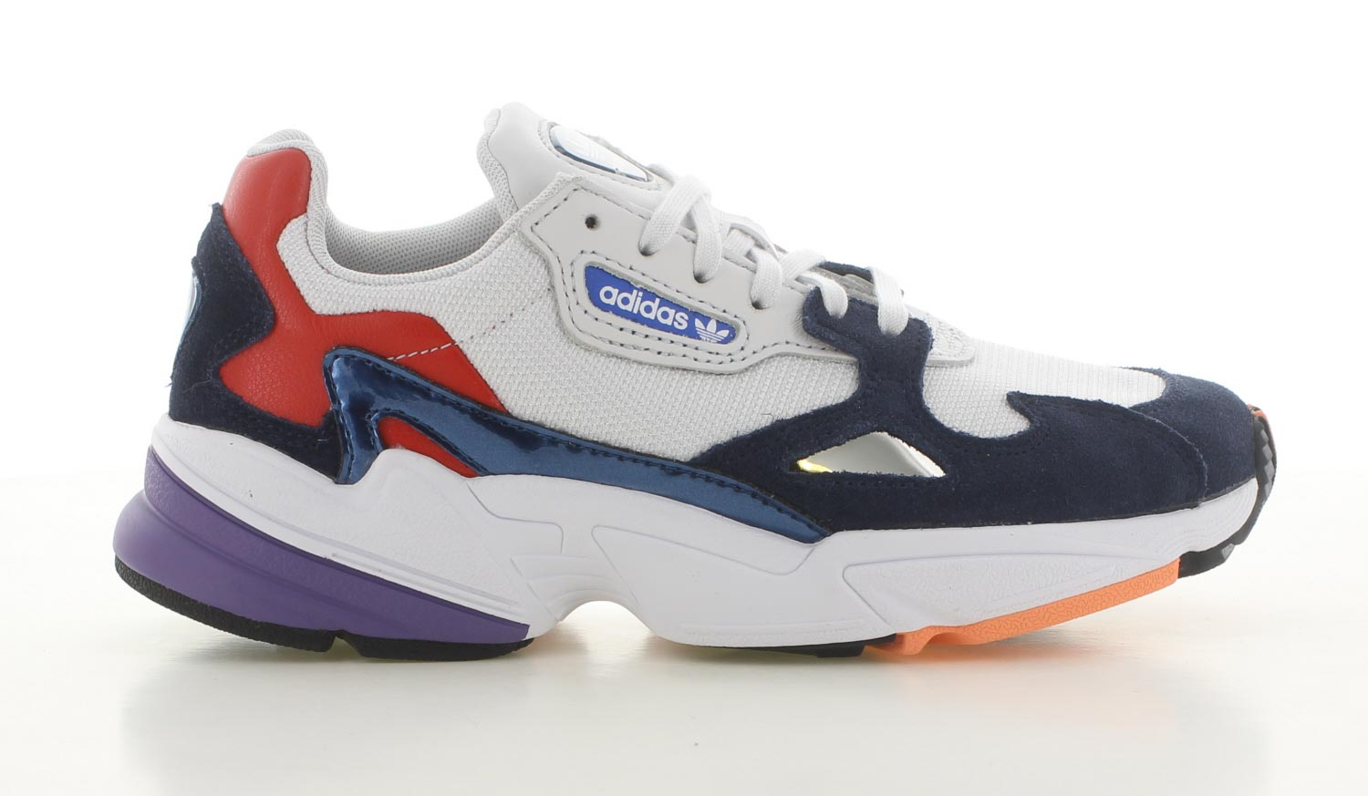 Image of Adidas Falcon Wit/blauw Dames