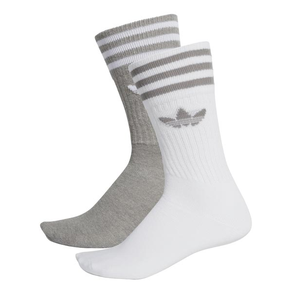 Image of Adidas Solid Crew 2pp Grijs/wit