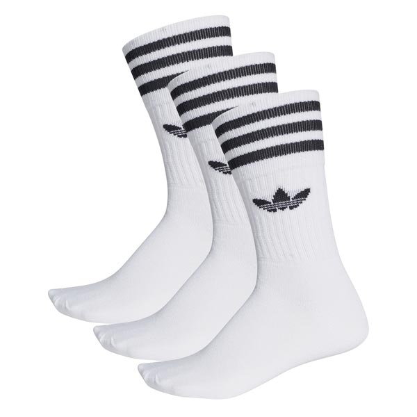 Image of Adidas Solid Crew Sock Wit
