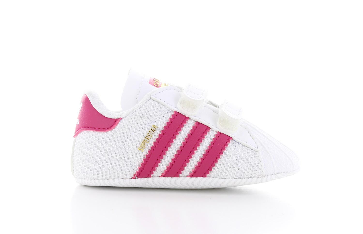 Image of Adidas Superstar Crib Wit/roze Baby