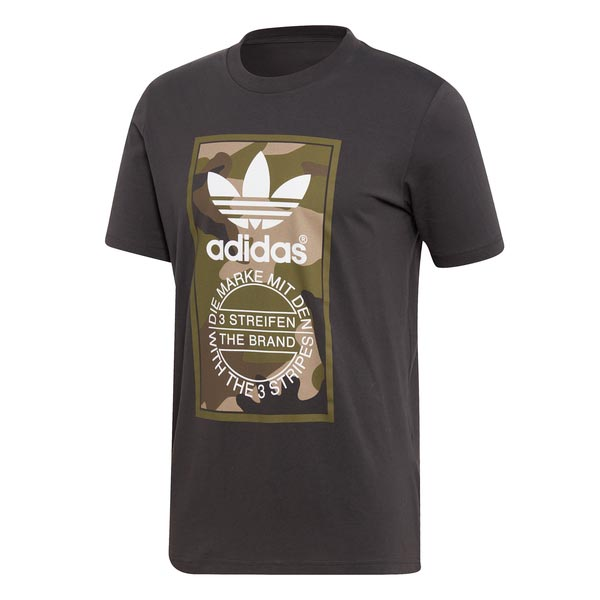 Image of Adidas Tongue Label T-shirt Camouflage Heren
