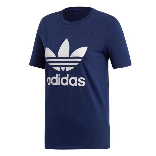 Image of Adidas Trefoil Tee Blauw Dames