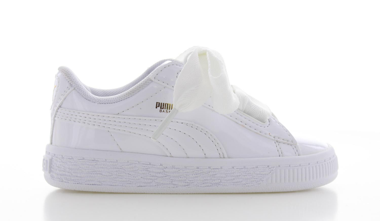 Image of Puma Basket Heart Patent Wit Peuters