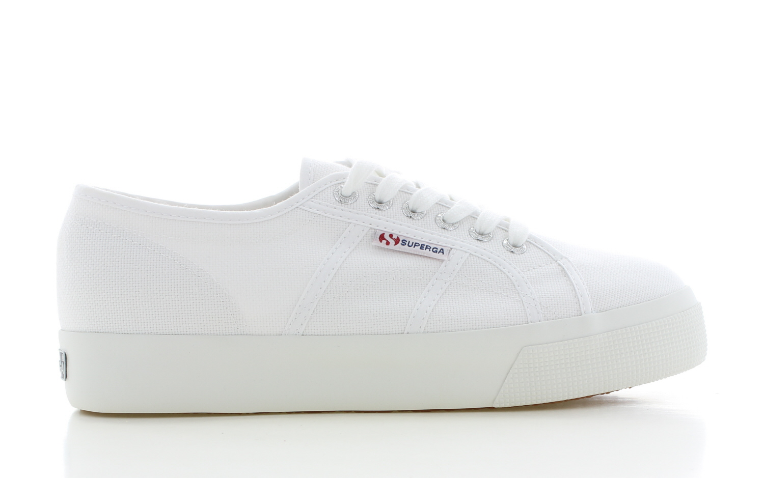 Image of Superga Cotu Mid Sole Wit Dames