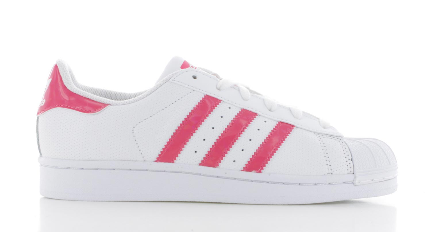 adidas sneakers dames wit roze