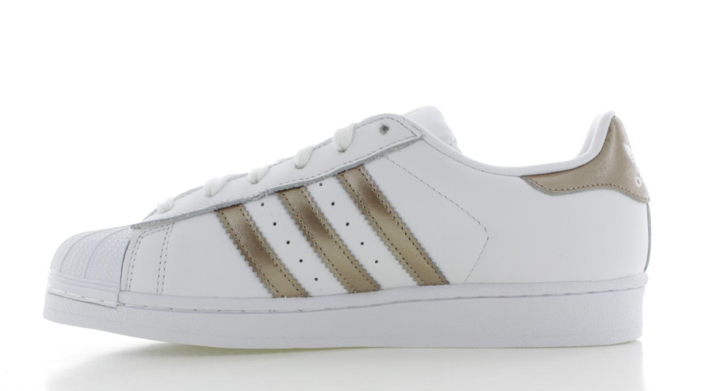 adidas superstars wit goud