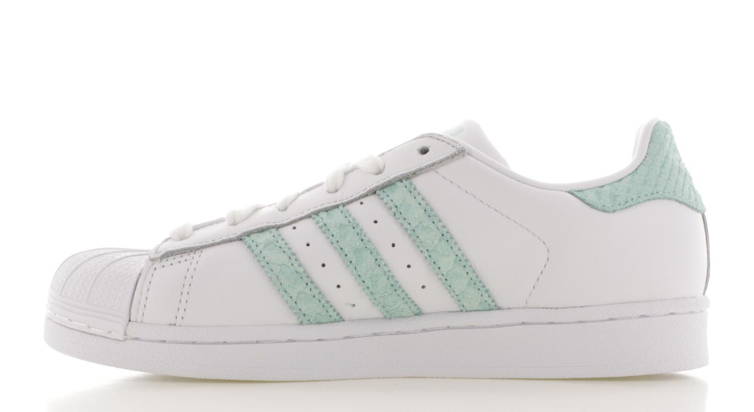 adidas superstar dames groen wit
