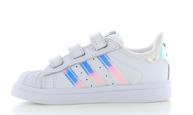 adidas superstar cf white holographic kids aq6279. Black Bedroom Furniture Sets. Home Design Ideas