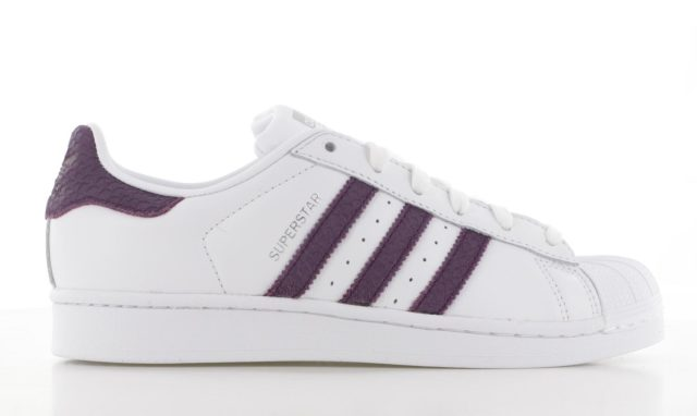 adidas Superstar Wit/Paars Dame