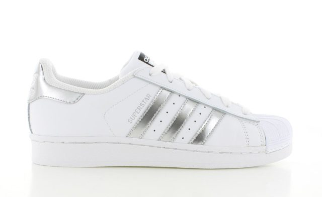 adidas Superstar Wit/Zilver Dames