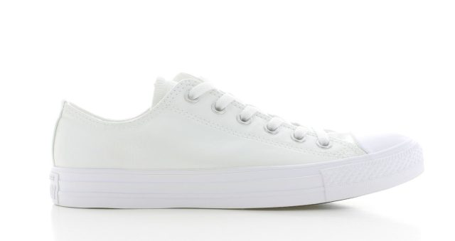 Converse All Star OX Low Metallic White Dames