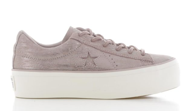 Converse One Star Platform Ox Taupe Dames