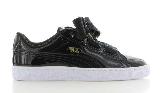 Puma Basket Heart Patent Black WMNS