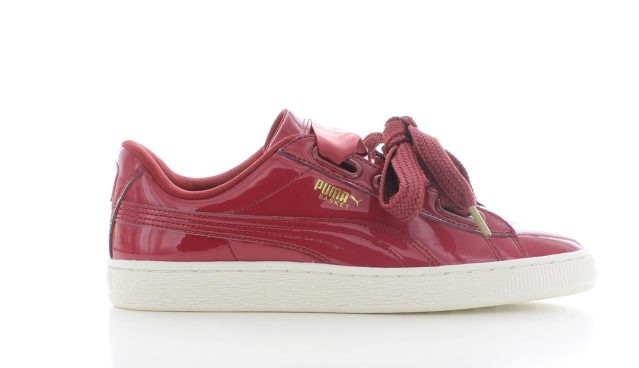 Puma Basket Heart Patent Tibetan Red Dames
