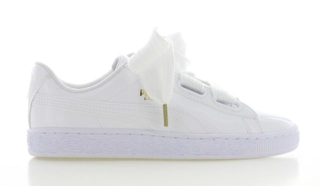 Puma Basket Heart Patent WIt Dames