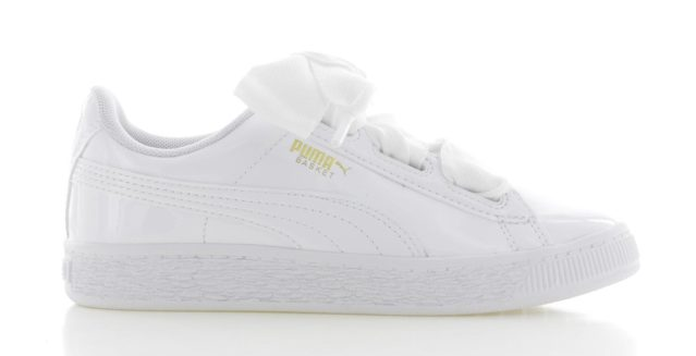 Puma Basket Heart Patent Wit Kinderen