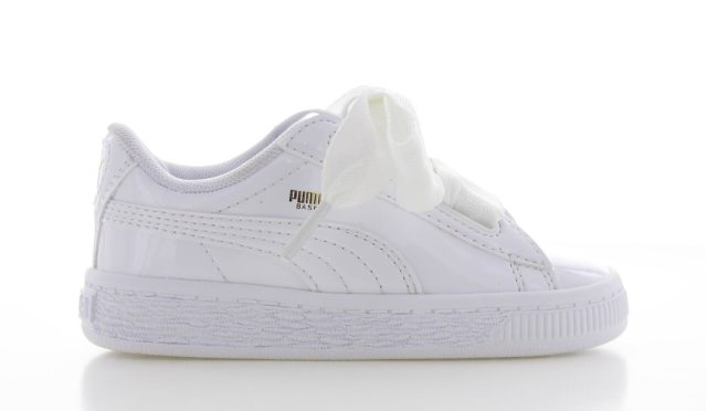 Puma Basket Heart Patent Wit Peuters